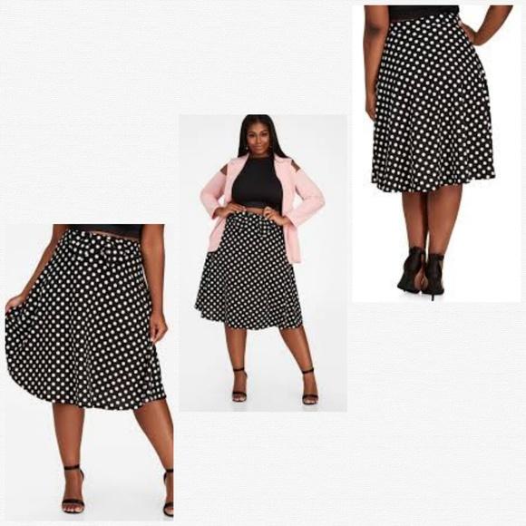 1dc83d8955f Ashley Stewart Polka Dot Bow Tie A Line Skirt